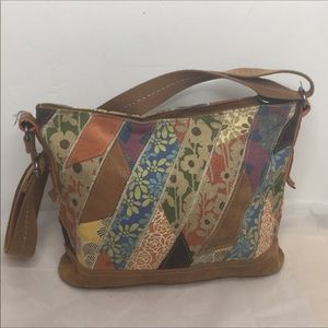 Fossil patchwork hobo/ Crossbody